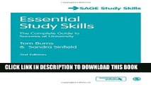 New Book Essential Study Skills: The Complete Guide to Success at University (SAGE Study Skills