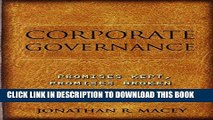 [PDF] Corporate Governance: Promises Kept, Promises Broken Full Online