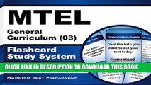 New Book MTEL General Curriculum (03) Flashcard Study System: MTEL Test Practice Questions   Exam
