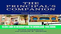 New Book The Principal s Companion: A Workbook for Future School Leaders