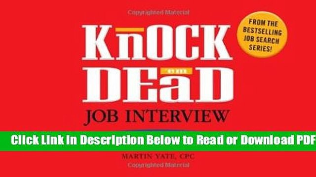 [Download] Knock  em Dead Job Interview Flash Cards: 300 Questions   Answers to Help You Land Your