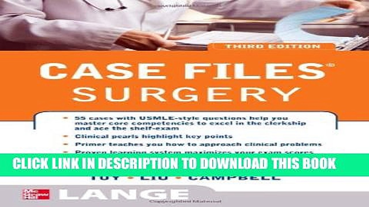 Collection Book Case Files Surgery, Third Edition LANGE Case Files