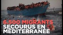 6.500 migrants secourus au large de la Libye
