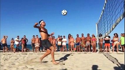 Vieri brings his skills to the beach