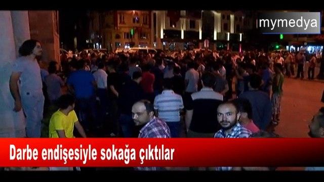 Konyada elektrikler kesildi, halk darbe endişesiyle sokağa çıktı