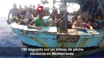 190 migrants secourus d'un bâteau de pêche