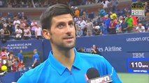 "Novak Djokovic imite Phil Collins en chantant avec les pas de ""I can't dance"""
