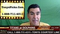 Miami Dolphins vs. Tennessee Titans Free Pick Prediction NFL Preseason Pro Football Odds Preview 9-1-2016