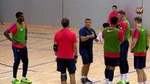 FCB HANDBOL: Xavi Pascual i Victor Tomás, satisfechos con la pretemporada [ESP]