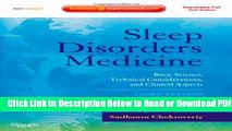 [Get] Sleep Disorders Medicine: Basic Science, Technical Considerations, and Clinical Aspects,