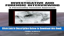 [Download] Investigative and Forensic Interviewing: A Personality-focused Approach Online Ebook
