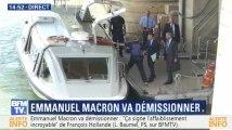 Macron en bateau pour poser sa démission: d'autres politiques ont soigné leur sortie