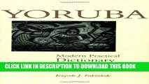 [PDF] Yoruba-English/English-Yoruba Modern Practical Dictionary Full Colection