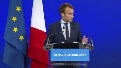 Déclaration d'Emmanuel Macron à Bercy