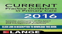 [PDF] CURRENT Practice Guidelines in Primary Care 2016 Full Colection