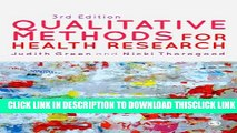[PDF] Qualitative Methods for Health Research (Introducing Qualitative Methods series) Full Online