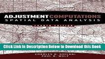 [PDF] Adjustment Computations: Spatial Data Analysis Online Books