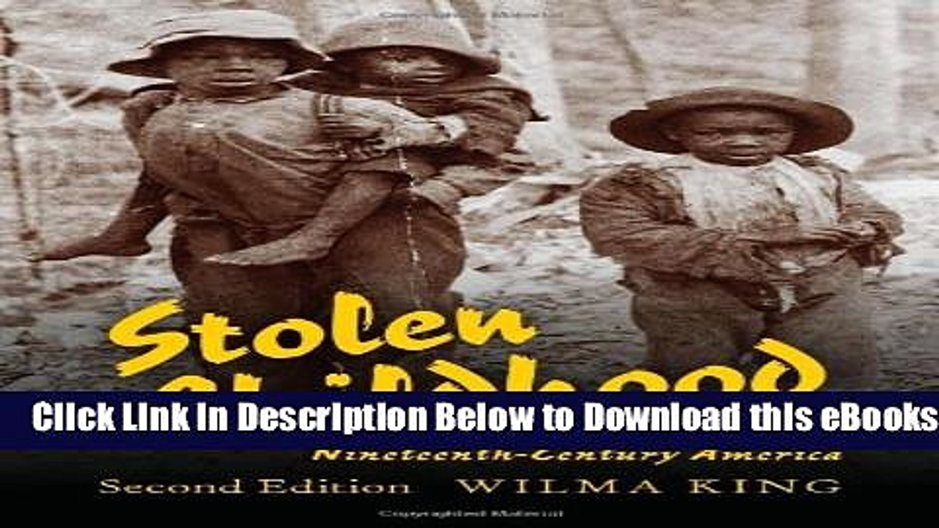 Slave Youth in Nineteenth-Century America Stolen Childhood Second Edition