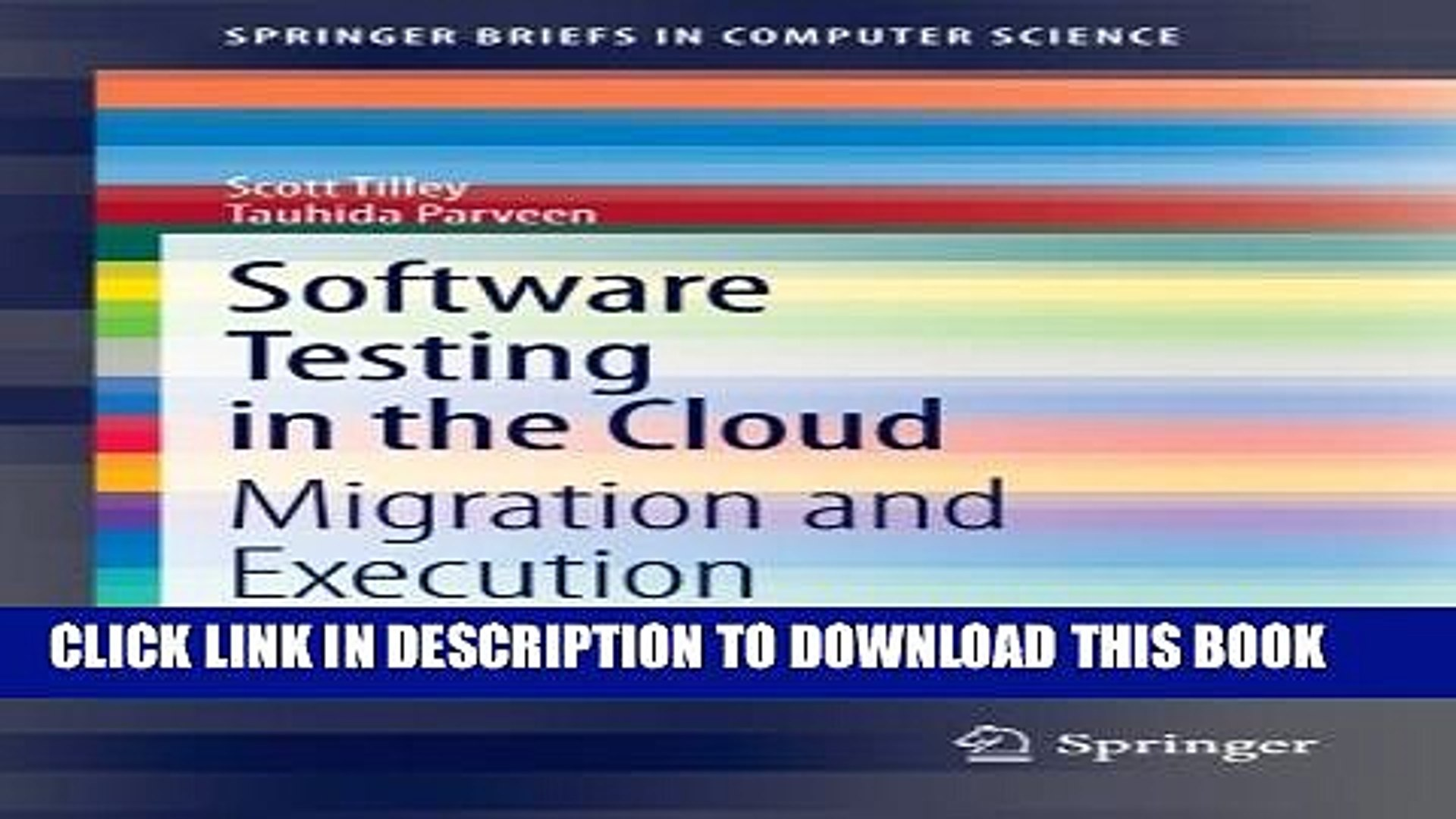 [PDF] Software Testing in the Cloud: Migration and Execution  (SpringerBriefs in Computer Science)