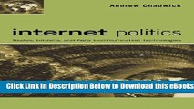 [Reads] Internet Politics: States, Citizens, and New Communication Technologies Free Books