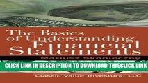 [PDF] The Basics of Understanding Financial Statements: Learn How to Read Financial Statements by