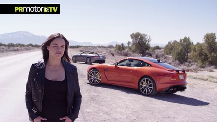 Material Completo! Michelle Rodriguez Drives New 200 MPH Jaguar F-TYPE SVR - PRMotor TV Channel [HD, 720p]