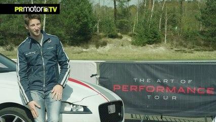 Can You Beat F1 Star Romain Grosjean in a Jaguar XF by PRMotor TV Channel [HD, 720p]