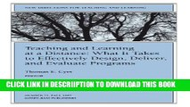 [New] Teaching and Learning at a Distance: New Directions for Teaching and Learning, Number 71