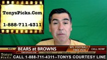Cleveland Browns vs. Chicago Bears Free Pick Prediction NFL Preseason Pro Football Odds Preview 9-1-2016