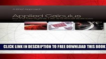 Collection Book Applied Calculus for the Managerial, Life, and Social Sciences: A Brief Approach