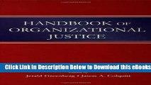 [Download] Handbook of Organizational Justice Free Ebook