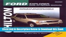 [Reads] Ford Explorer   Mercury Mountaineer: 2002 through 2003 Online Books