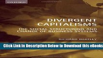[Reads] Divergent Capitalisms: The Social Structuring and Change of Business Systems Online Books