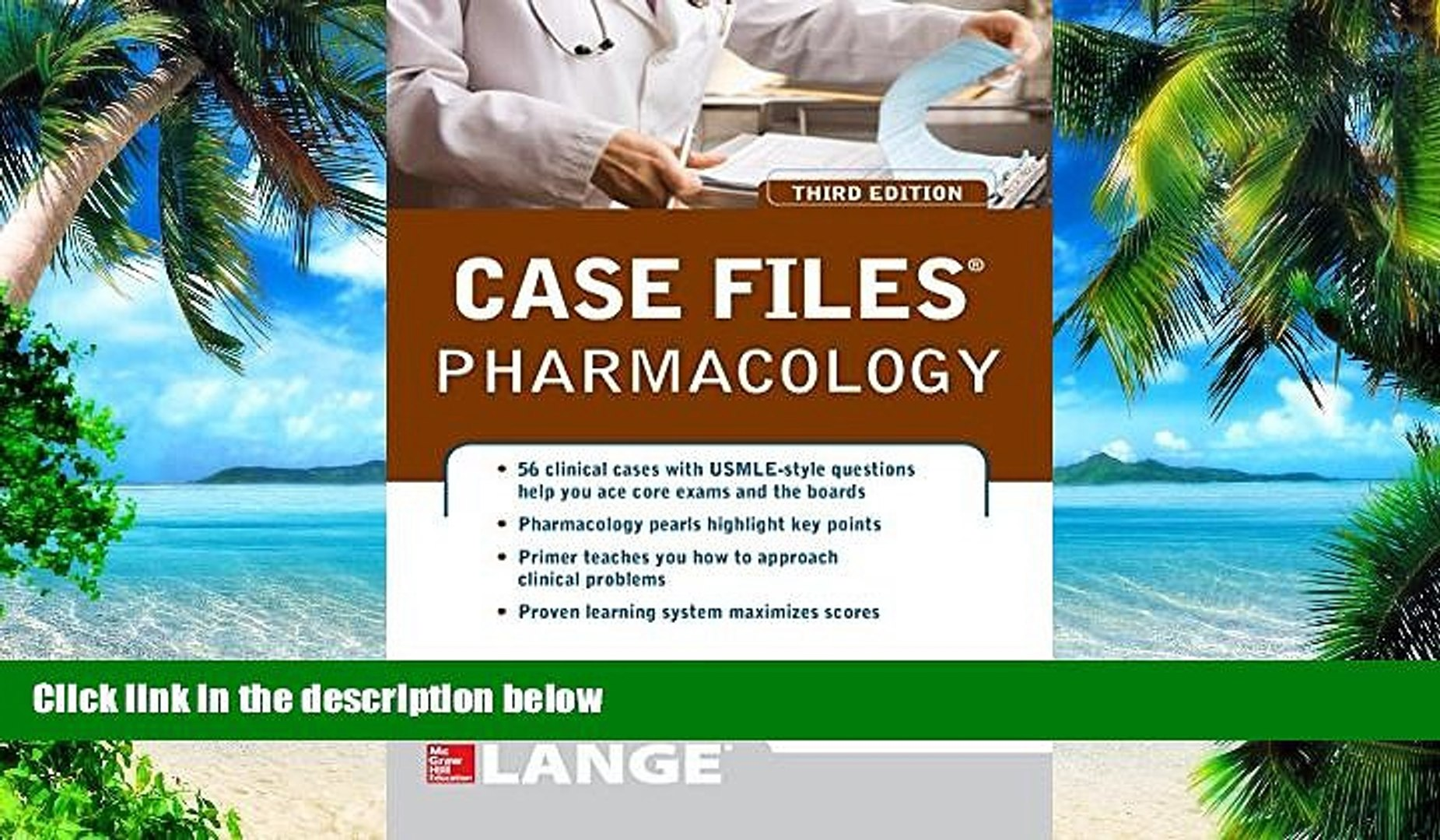 Big Deals Case Files Pharmacology, Third Edition LANGE Case Files Free  Full Read Most Wanted