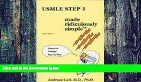 Big Deals  USMLE Step 3 Made Ridiculously Simple (Medmaster Ridiculously Simple)  Free Full Read