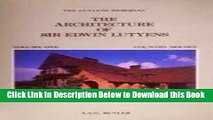 [Best] The Architecture of Sir Edwin Lutyens Free Books