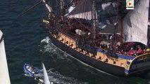 Brest: L'Hermione parade aux Fetes Maritimes 2016 - Bretagne Télé
