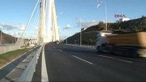1-İlk Ücretli Gününde Yavuz Sultan Selim Köprüsü'nden Trafik Görüntüleri