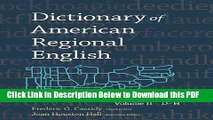 [Read] Dictionary of American Regional English, Volume II: D-H Free Books