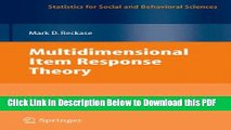 [Read] Multidimensional Item Response Theory (Statistics for Social and Behavioral Sciences) Full