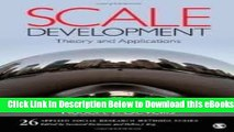 [Reads] Scale Development: Theory and Applications (Applied Social Research Methods) 3th (third)