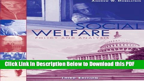 [Read] Social Welfare: Policy and Analysis (Social Welfare Policy   History) Full Online