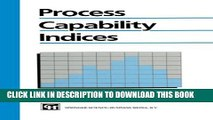 DOWNLOAD] PDF BOOK Process Capability Indices Collection