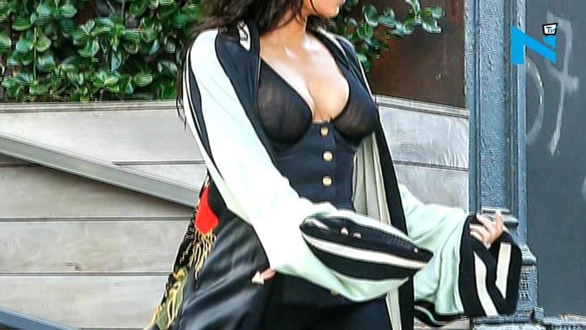Kim Kardashian's sheer top is sheer delight