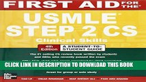 [PDF] First Aid for the USMLE Step 2 CS, Fourth Edition (First Aid USMLE) Full Collection
