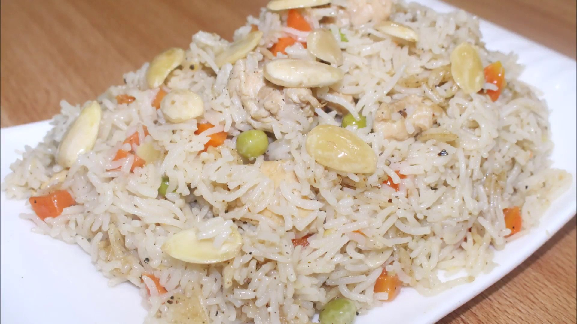 Garlic Rice Recipe - Delicious Almond Chicken Garlic Rice