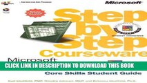 [PDF] Microsoft  Project 2000 Step by Step Courseware Core Skills Class Pack (Step By Step