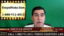 UL Lafayette Rajin Cajuns vs. Boise St Broncos Free Pick Prediction NCAA College Football Odds Preview 9/3/2016