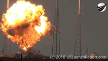 SpaceX Rocket Explodes During Test Launch