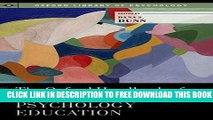 [PDF] The Oxford Handbook of Undergraduate Psychology Education (Oxford Library of Psychology)